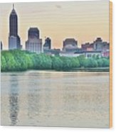 Sun Rise In Indianapolis Wood Print