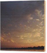 Sun Settles On Connecticut Wood Print