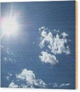 Sun Shine Wood Print