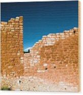 Sun Soaked Ruins Wood Print