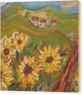 Sun Song Wood Print