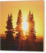 Sun Sorceress Wood Print