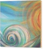 Sun Surf Sky Wood Print