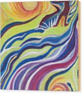 Sun Surfer Wood Print