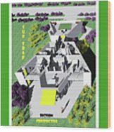 Sun Trap Section Perspective Wood Print