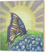 Sun Up Wood Print