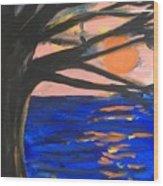 Sun Worshipping Wood Print