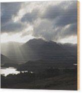 Sunbeams In Glen Affric Wood Print