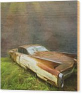 Sunbeams On A Classic Cadillac Wood Print