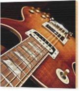 Sunburst Electric Guitar Wood Print