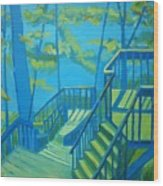 Suncook Stairwell Wood Print by Debra Bretton Robinson