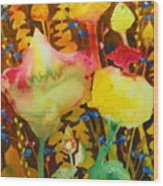 Sundae Flower Cone Wood Print