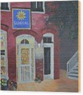 Sundail Books, Chincoteague Island, Va Wood Print