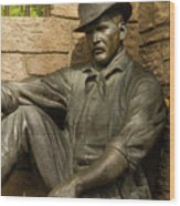 Sundance Kid Statue 4 Wood Print