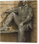 Sundance Kid Statue 5 Wood Print