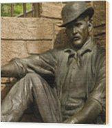 Sundance Kid Statue 6 Wood Print