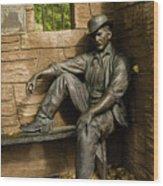 Sundance Kid Statue Wood Print