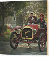 Sunday Drive In A 1910 Buick Wood Print