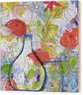 Sunday Market Flowers- Art By Linda Woods Wood Print