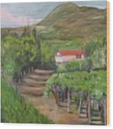 Sunday Morning At Ocone Vini Montesarchio Italy Wood Print