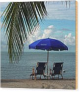 Sunday Morning At The Beach In Key West Wood Print