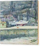 Sunday Morning Dysart Harbour Wood Print