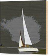 Sunday Sailing Wood Print