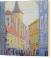 Sunday Stroll - Prague Wood Print
