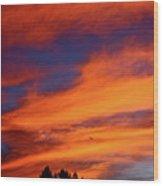Sunday Sunrise Wood Print