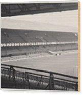 Sunderland - Roker Park - Main Stand 1 - Bw - Leitch - 1960s Wood Print