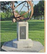 Sundial At American Legion Post, Indianapolis, Indiana Wood Print