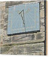 Sundial On St Mary's Church - Tutbury Wood Print