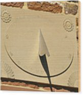 Sundial.  Wood Print