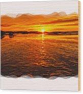 Sundown At Low Tide 2 Wood Print