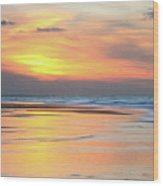 Sundown At Race Point Beach Wood Print