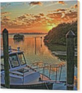 Sundown By H H Photography Of Florida Wood Print