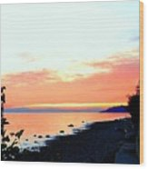 Sundown From West Vancouver Wood Print