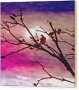 Sundown Wood Print by Holly Kempe