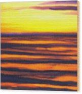 Sundown In The Marshlands Wood Print
