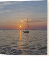 Sundown In The Tropics Wood Print
