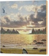 Sundown Seascape Wood Print