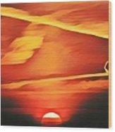Sundragon  Wood Print