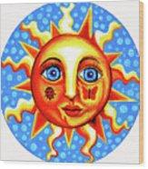 Sunface With Ladybug Wood Print