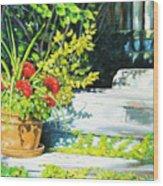 Sunfilled Steps 01 Wood Print