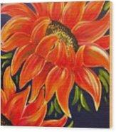 Sunflora Wood Print
