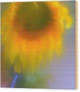 Sunflower # 5. Wood Print