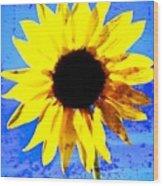 Sunflower 12 Wood Print
