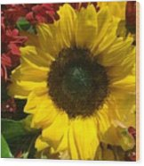 Sunflower Boquet Wood Print