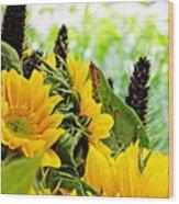 Sunflower Bouquet 2 Wood Print