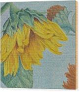 Sunflower Buddies Wood Print
